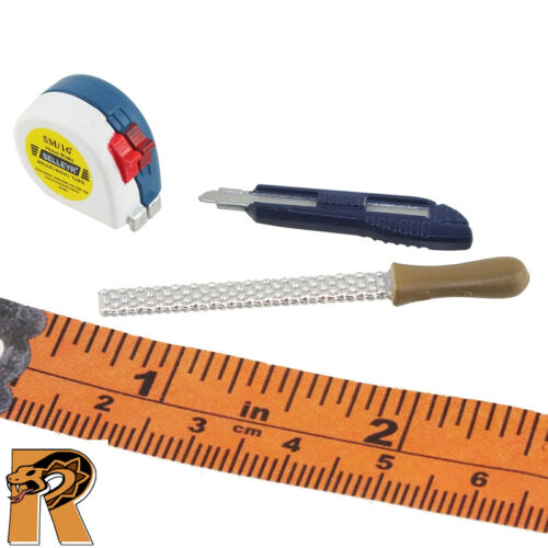 Hand Tools Measure /& File /& Cutter #1-1//6 Scale ZC World Action Figures