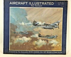 Vintage-War-AIRCRAFT-ILLUSTRATED-Book-Pacific-Zone-1939-1945-Ray-Honisett-1966