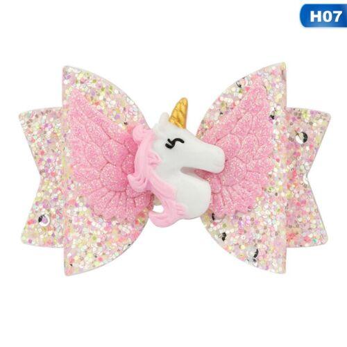 Baby Girls Sequin Bow Unicorn Hair Clip Headband  Kids Hairpin Accessories WwKzJ