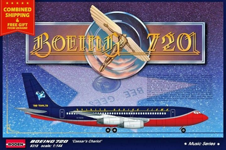 BOEING 720  CAESAR'S CHARIOT  American airplane 1 144 scale model kit RODEN 318