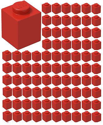 ☀️Lego 1x1 RED Brick x 100 Stud Part Piece Bulk Lot Legos # 3005