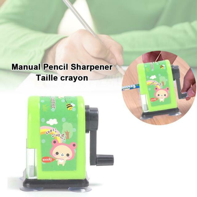 Kids Hand held Manual Pencil Sharpener Cute Cartoon Sharpener School Supplies