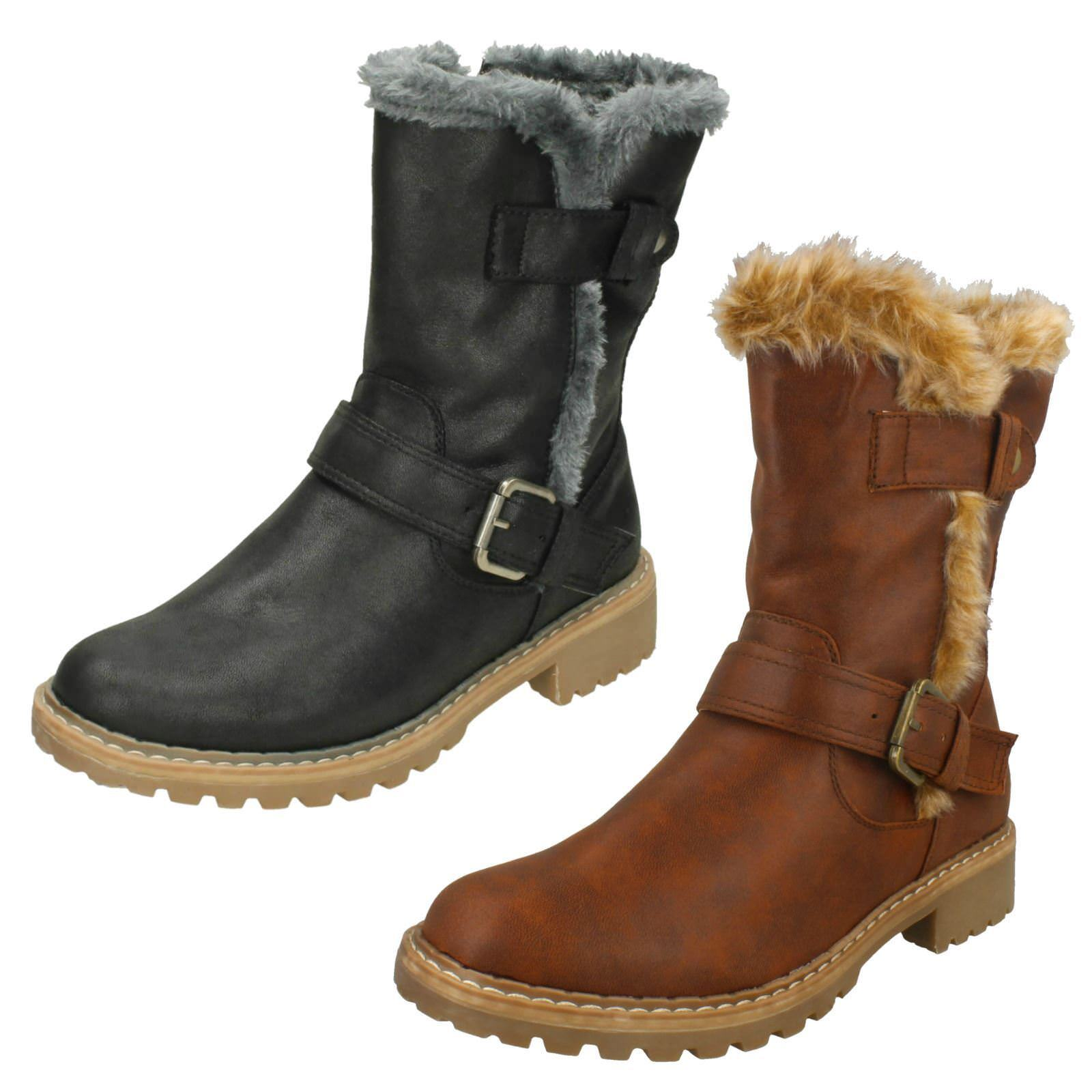 Ladies Down To Earth 'Fur Trim Calf Boots'