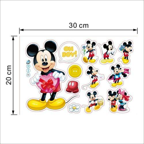 Pegatinas de pared para niños Dibujos Animados de Mickey y Minnie Mouse