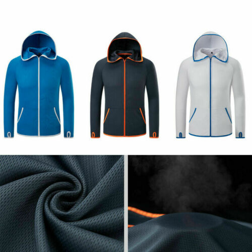 Water Repellent Ice Silk Men Hiking Jackets Hydrophobic Fishing Outdoor Clothing