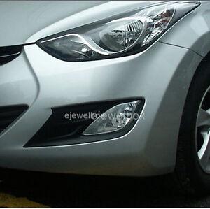 Fog Lamp Garnish Black 2Pcs 1Set  For Hyundai Elantra 2011 2013