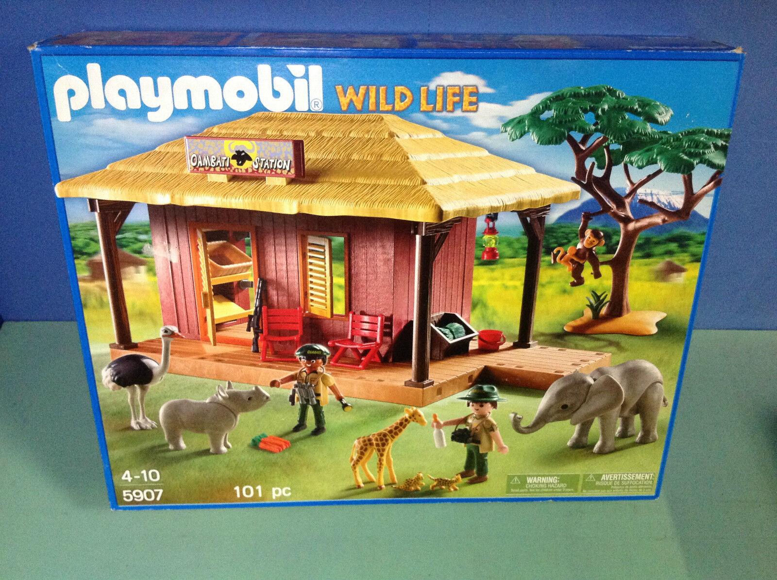 (O5907) playmobil maison safari et bébés animaux  en boite 100% complet ref 5907  essere molto richiesto