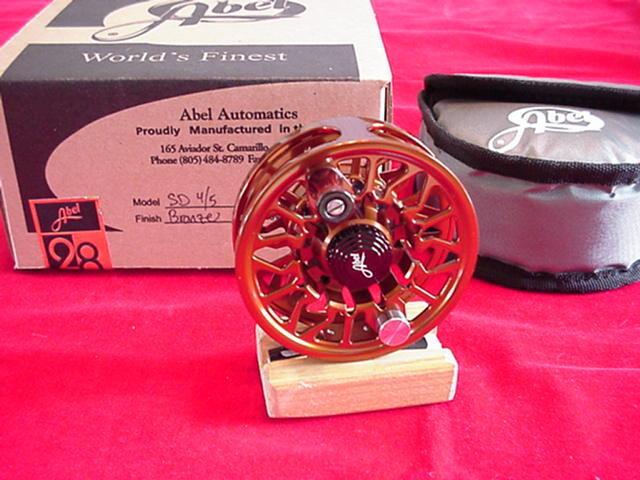 Abel Fly Reel New Sealed Disc Drag 4 5 Reel in BRONZE GREAT NEW