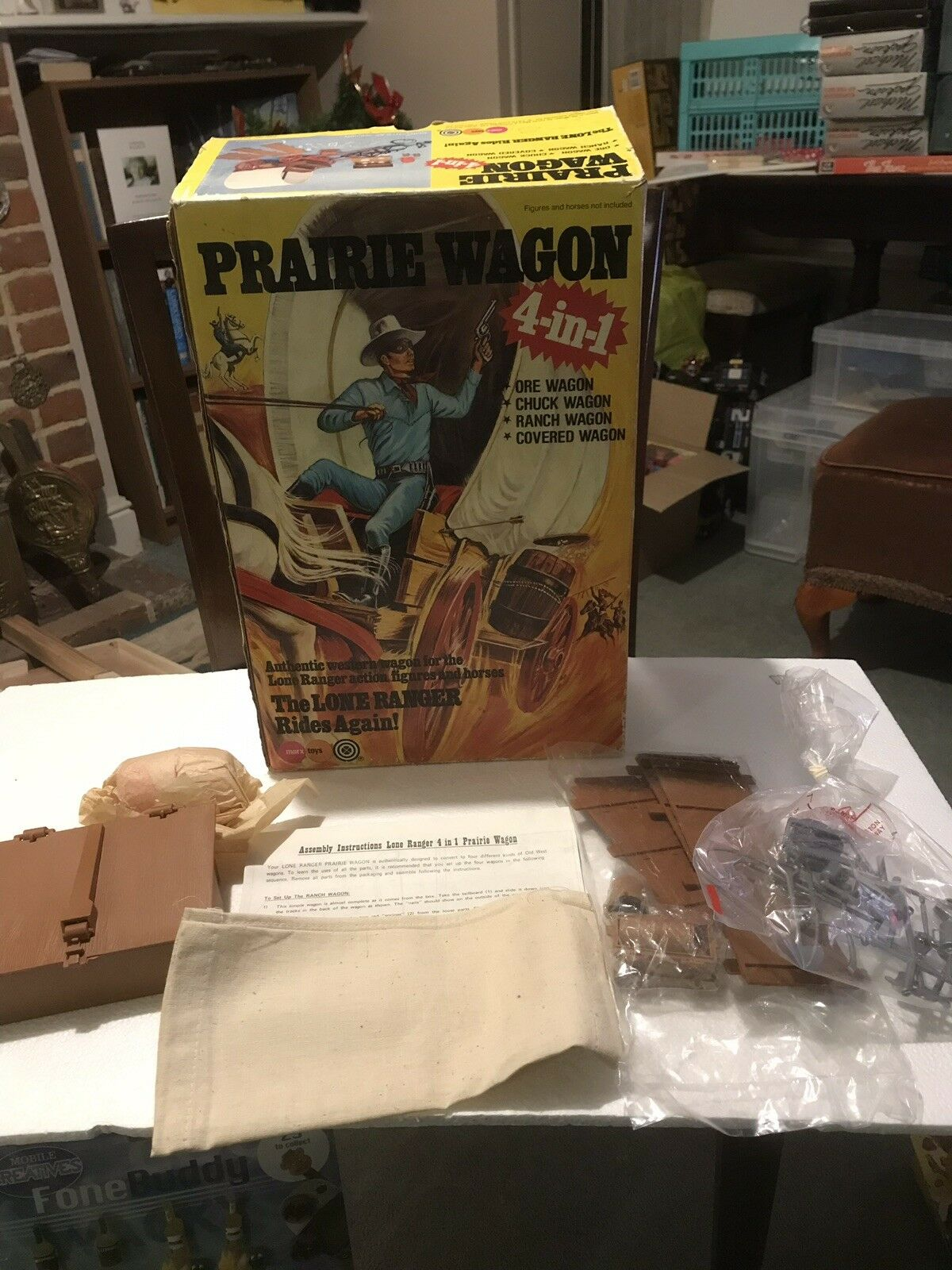 VINTAGE MARX 1970's LONE RANGER BOXED PRAIRIE WAGON MINT UNPLAYED WITH STUNNING