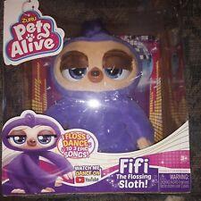 NEW Zuru Pets Alive Fifi the Flossing Sloth Robotic Toy Christmas Birthday Gift