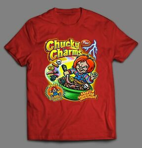 CHUCKY CHARMS HORROR MOVIE CEREAL PARODY HIGH QUALITY Shirt *MANY OPTIONS*