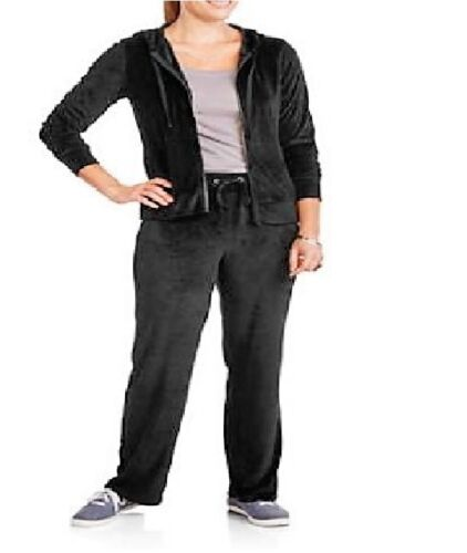 NYC Alliance Big Women/'s Plus Size Velour Hooded Hoodie Tracksuit ~ Pick One