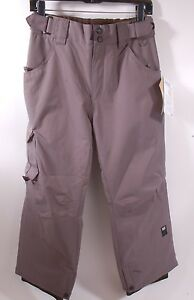 2015-NWT-BOYS-RIDE-CHARGER-SNOWBOARD-PANTS-M-gray-storm-youth-kids