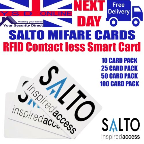 50-100   1KB  RFID Cards Salto Access Control Card PCM01KB  Pack Of 10-25