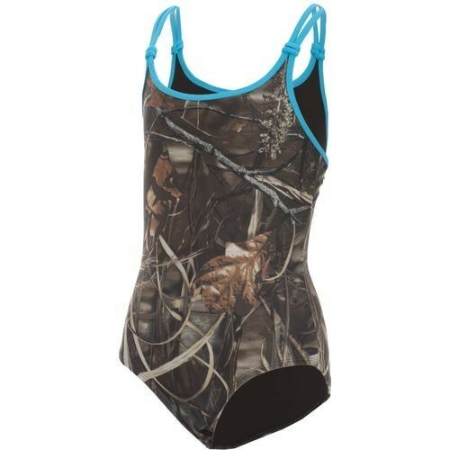 c82859ba3d Realtree Youth Girls Camo Camouflage APG Lattice Back 1-Piece Swimsuit