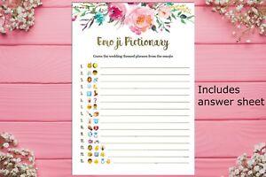 83488733dcc Image is loading Printable-Emoji-Pictionary-Bridal-Shower-game-Kitchen-tea-