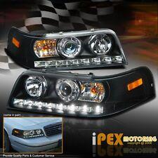 1998-2011 Ford Crown Victoria Projector LED Black Headlights Corner Signal Light