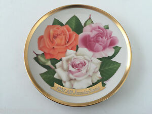 1987-All-America-Roses-American-Rose-Society-Limited-Edition-Collector-Plate