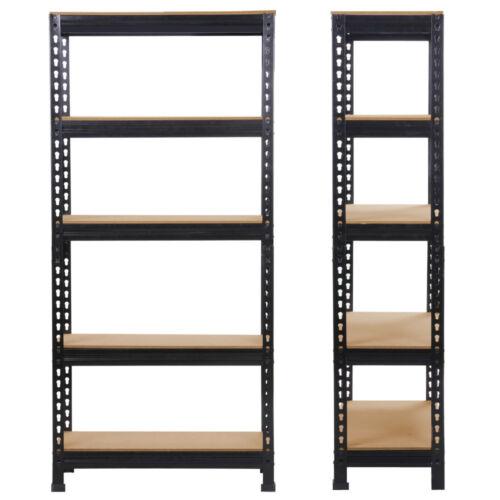 1//2//3//4 Heavy Shelf Garage Steel Metal Storage 5 Level Adjustable Shelves Rack
