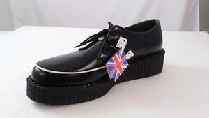 """TUK MIE ENGLAND MADE BLACK LEATHER 'CRAPS' DICE 1.5"""" CREEPERS US 7 M'S 9 W'S"""