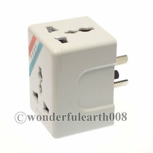 1 X China Au 3 Pin Wall Socket Power Plug Adapter 3 Way