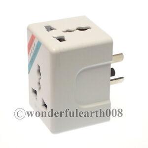 1 x China 3 Pin Wall Socket Power Plug Adapter 3 Way Masterplug | eBay