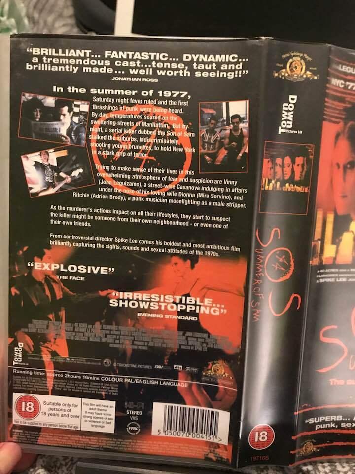 Summer Of Sam (VHS/SH, 2001)