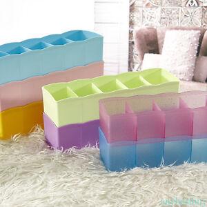 Platic-Storage-Boxes-Bra-Underwear-Socks-Ties-Closet-Organizer-Drawer-Divider