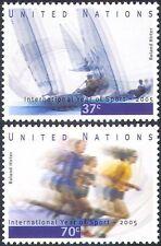 UN (NY) 2005 Sports/Games/Sailing/Boats/Running/Athletics 2v set (n35070)