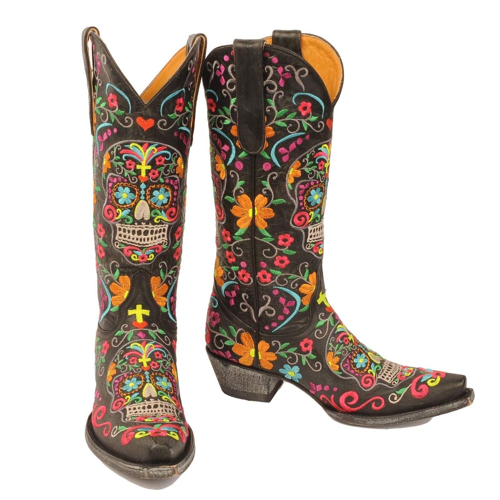 Old gringo gringo gringo Klak Mujer botas-Negro L1300-1  de moda