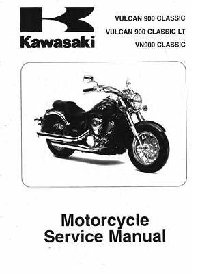 Kawasaki 2007-2014 Vulcan 900 Custom service manual in 3-ring binder