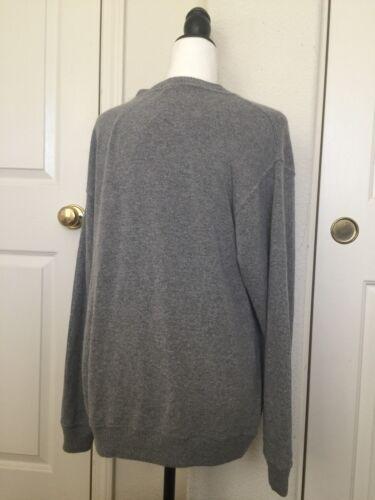 Brandy molle Grande lana maglione Heather Grey Melville di girocollo eccellente n85B7cOnxW