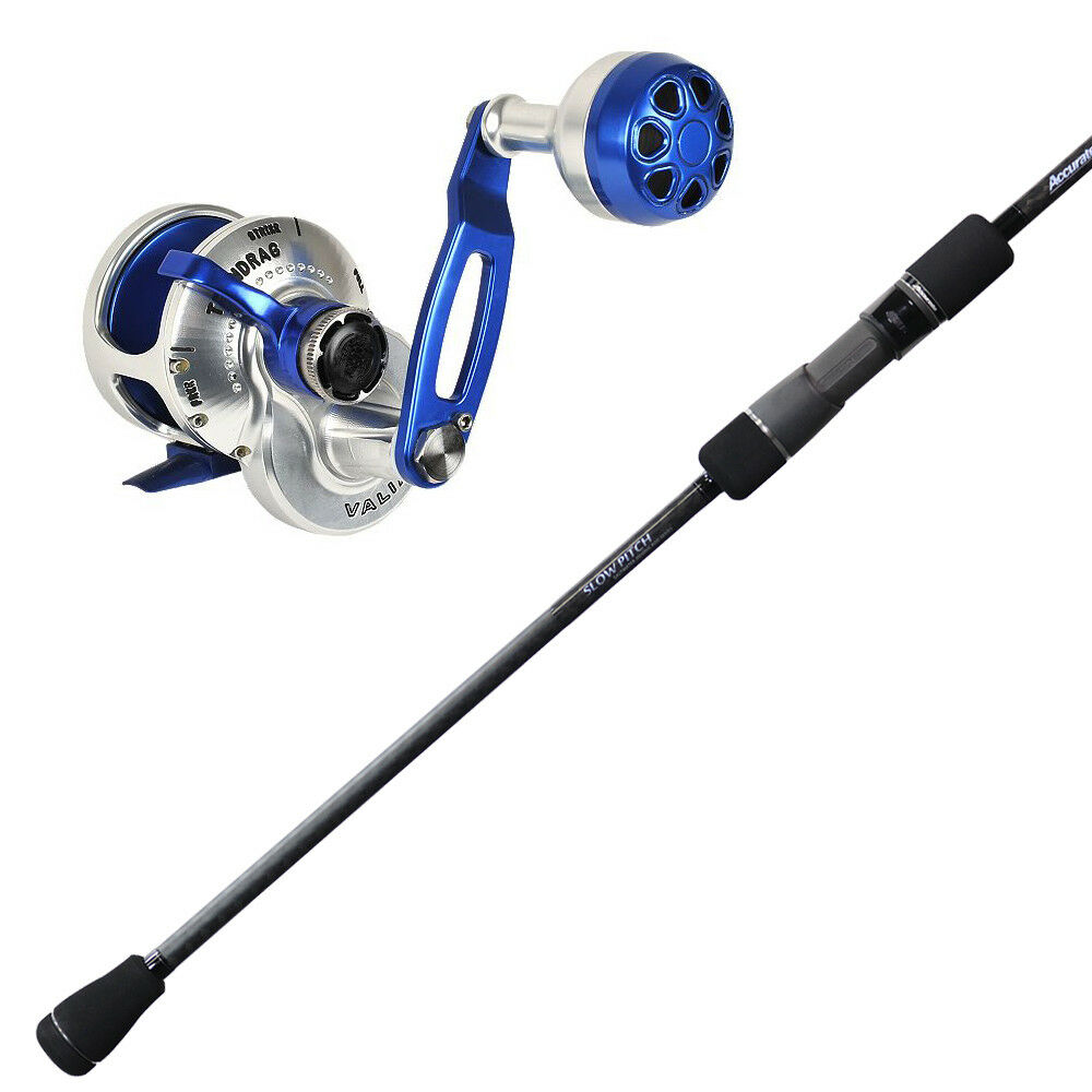 Accurate  Valiant BV-68M-SP Slow Pitch Rod & Accurate Valiant BV-300 (bluee) Reel  outlet