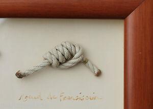Bien Informé Tableau Déco Marine De Noeuds Marins Mer Bois Fabr. Bretagne Artisanat Art ~70cm
