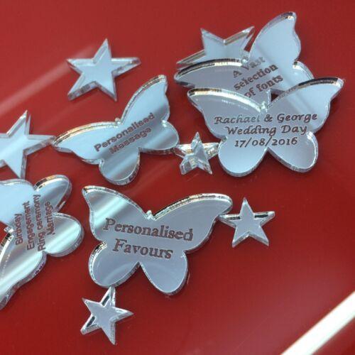 Personalisierter Schmetterling Tisch Dekoration Gastgeschenke Graviert