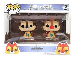 Funko-Pop-Disney-Kingdom-Hearts-2-Pack-Chip-and-Dale-Vinyl-Figure-Brand-New