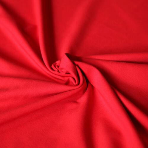 NEU Jersey Stoff Uni ROT Baumwolljersey Einfarbig Kombistoff T-Shirt Stoffe 1A