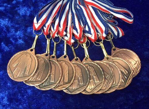 30 mm Arts Martiaux Or Argent ou Bronze Medal JUDO COMPETITION Lot de 10 ou 12