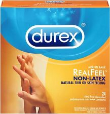 Durex Avanti Bare Real Feel Polyisoprene Non Latex Lubricated Condoms 24 ea