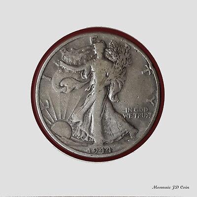 1938 D Walking Liberty Half Dollar 90/% Silver Fine FN