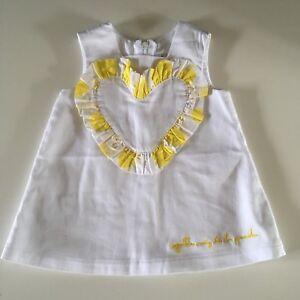 eaf2a134 BABY GIRLS DESIGNER AGATHA RUIZ DE LA PRADA WHITE SUMMER DRESS, AGE ...