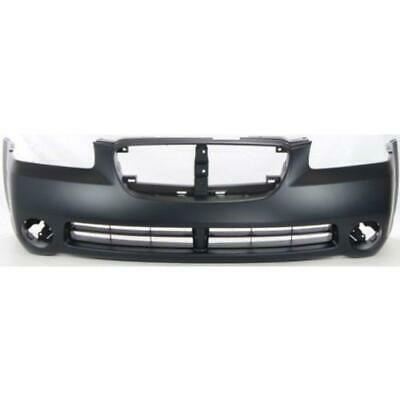 Front Bumper Cover For 2002-2003 Nissan Maxima w// fog lamp holes Primed