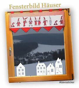 Haeuser-Wandtattoo-Fensterbilder-Aufkleber-Deko-Fenstertattoo-Weihnachten-Winter