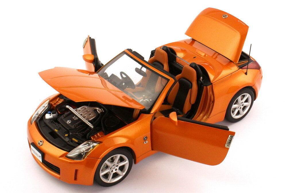 NISSAN FAIRLADY 350Z ROADSTER Z33 RH DRIVE 2004 SUNSET Orange AUTOART 77377 1 18