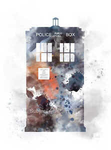 Image Is Loading ART PRINT Doctor Who The Tardis Illustration Police