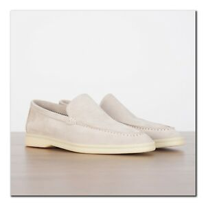 LORO-PIANA-850-Summer-Walk-Moccasin-In-Pearl-Powder-Suede-Calfskin