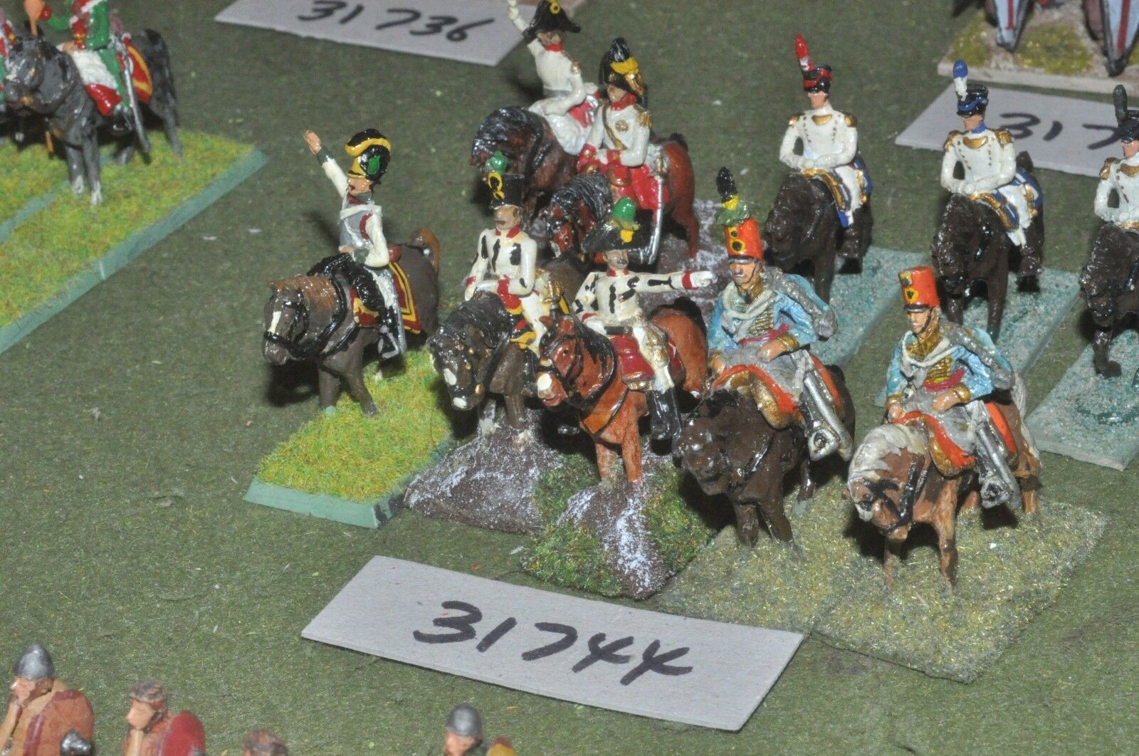 25mm napoleonic   austrian - officers & escort 10 figures - command (31744)