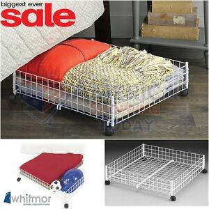 under bed storage rolling cart floor drawer container bins. Black Bedroom Furniture Sets. Home Design Ideas