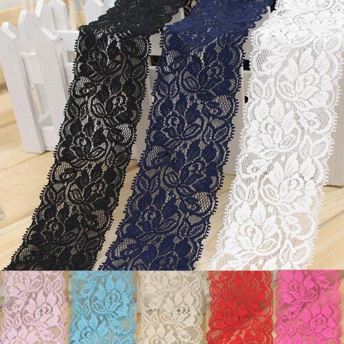 Flor Elástico Ribete De Encaje Cinta de Costura Vestido Falda FA Decoración hágalo usted mismo Manualidades Q3D4