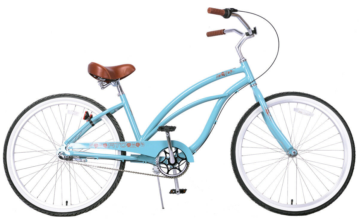Fito Marina Aluminum 3-speed - Sky bluee, Light Weight Woman's Beach Cruiser Bike